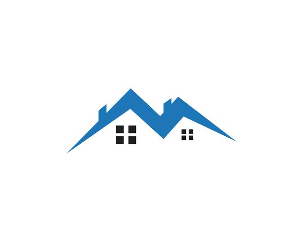 huisvestingsembleem en symbolenpictogrammen