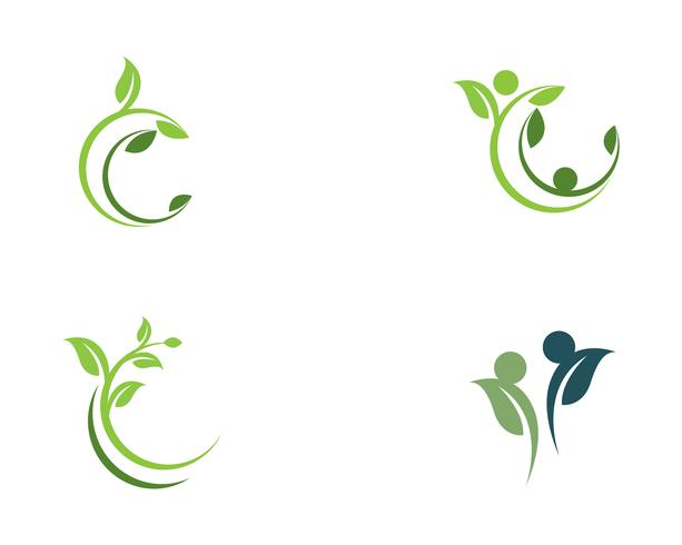 träd blad vektor ikon illustration design