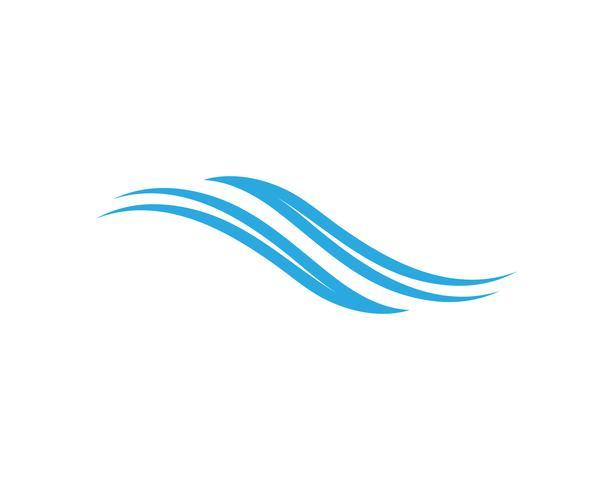 vague eau logo plage vecteur