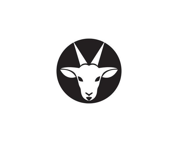 Ziegenkopf Logo Template-Vektor