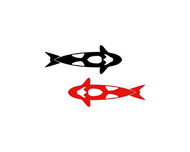 Pesce KOI logo e simbolo animale vettoriale