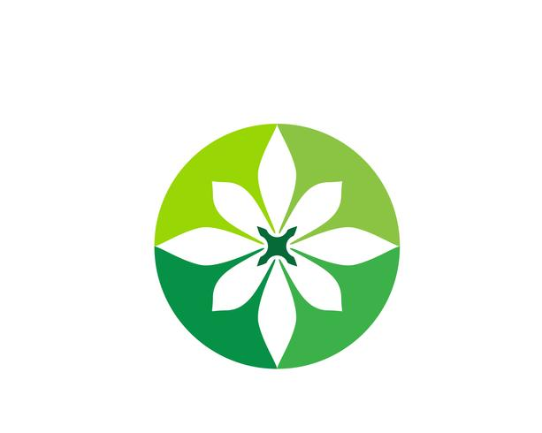 floral patterns logo and symbols on a white