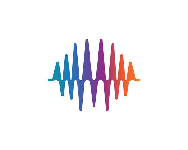 sound wave ilustration logo vector icon