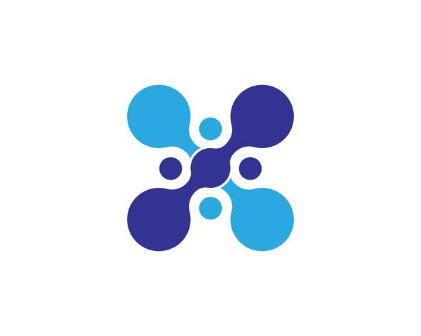 Diseño del ejemplo del vector de la plantilla del logotipo del símbolo de la molécula