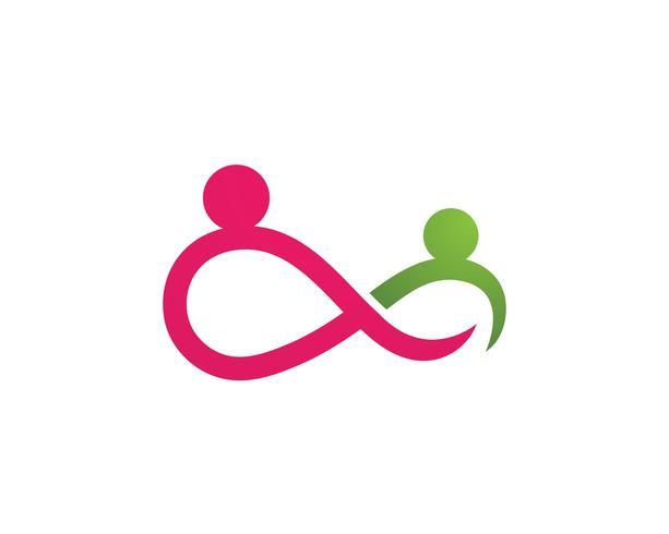 Antagande och samhällets oändlighetstjänst Logo mall