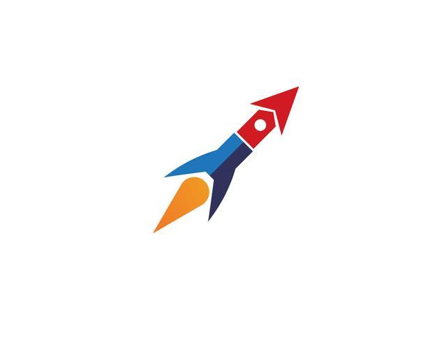 Raketenillustrationslogovektor-Ikonenschablone