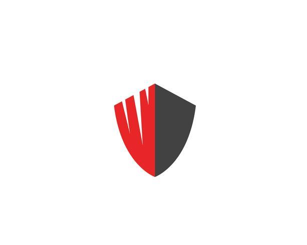 Scudo di protezione vettoriale logo design della protezione