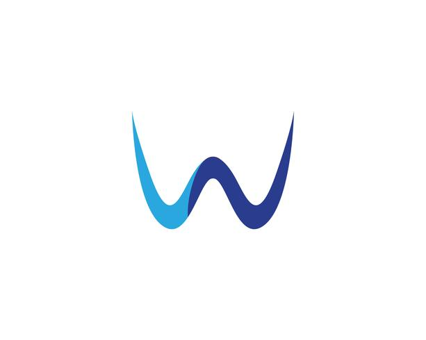 Logotipo e símbolos do negócio do LOGOTIPO de W