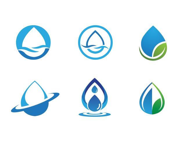 progettazione dell'illustrazione di vettore del modello di logo della goccia di acqua