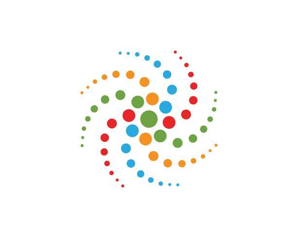 vortice cerchio logo e simboli template vettoriale