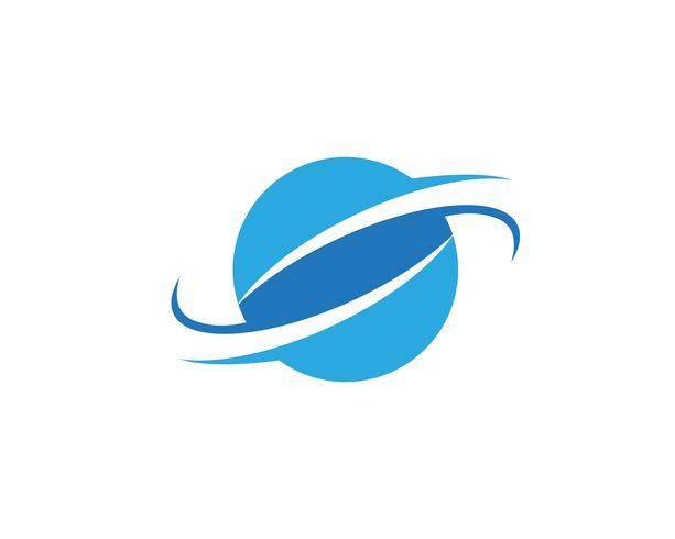 Modello di vettore di logo di illustrazione del globo