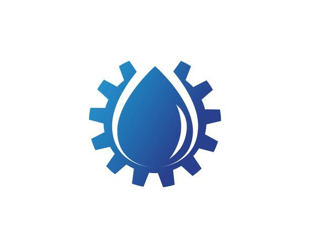 Ilustración de plantilla de logotipo gota de agua