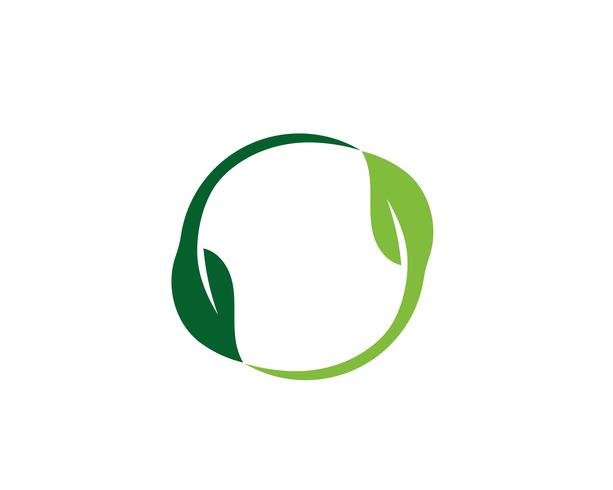Ecology leaves logo illustration
