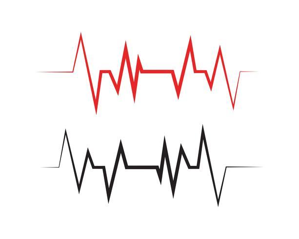 Modèle vectoriel de ligne de pouls ilustration - Vectors
