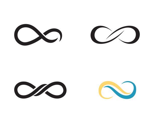 Infinito logo y símbolo plantilla vector iconos