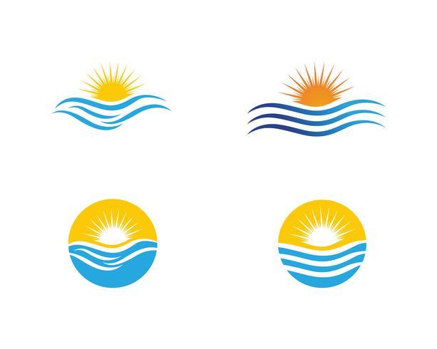 Sun Vector illustration Icône Création de modèle de logo