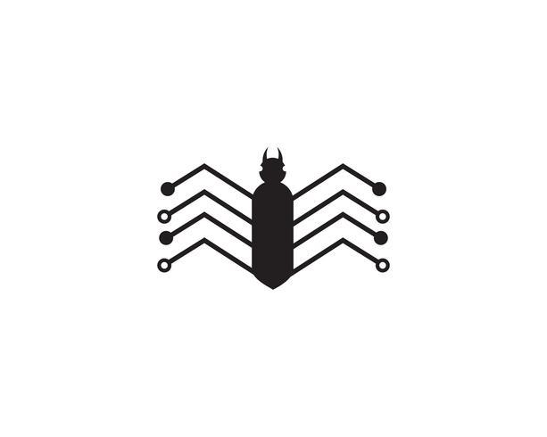 vetor de logotipo de aranha para o negócio - Vetores