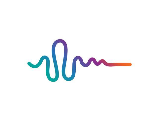 icona di vettore di logo del suono dell'onda sonora