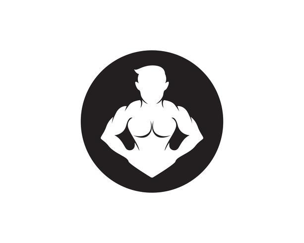 Objeto vectorial e iconos para etiqueta deportiva, insignia de gimnasio, diseño de logotipo de fitness vector