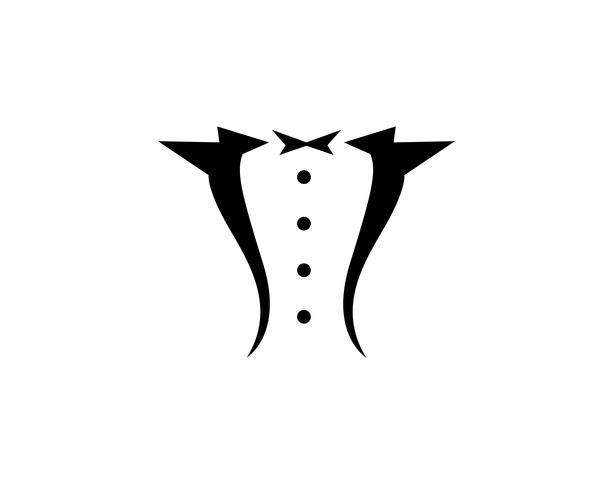 Tuxedo man black logo vector