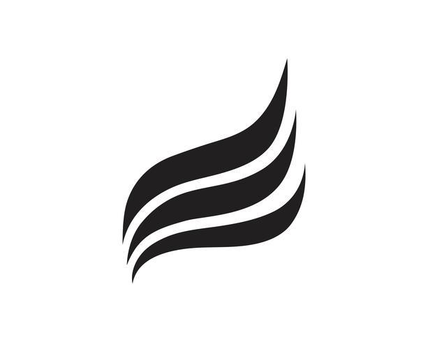 Wing logo och symbol affärsmall