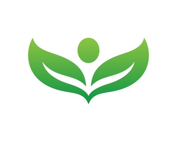 bladgroen natuur logo en symbool sjabloon
