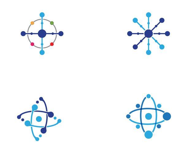 Progettazione dell'illustrazione di vettore del modello di logo di simbolo della molecola