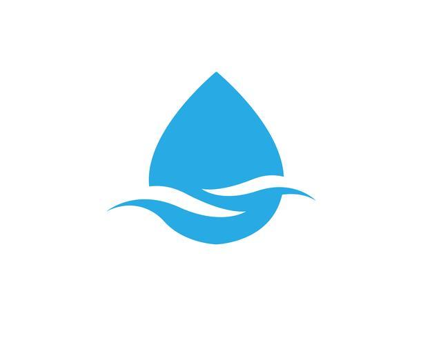 Wassertropfen Logo Template-Vektorillustrationsdesign