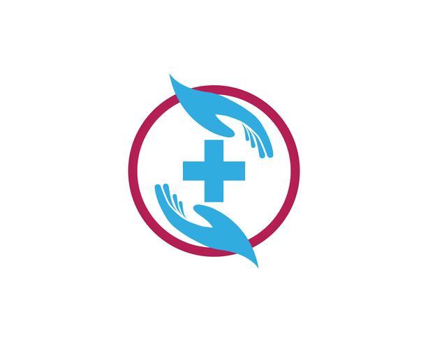 Hand help logo and symbols ícones de modelo