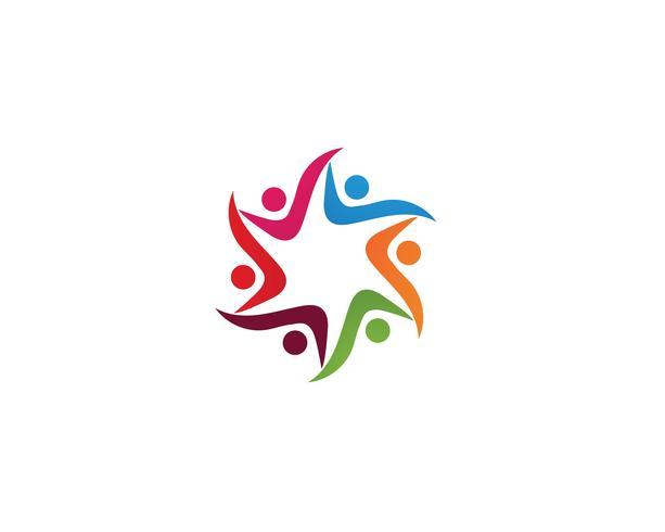 Community people care logo and symbols