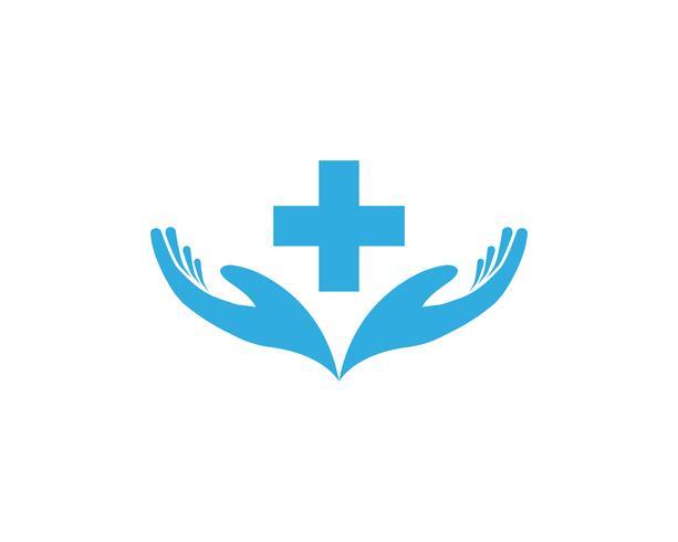 Icônes de modèle logo aide main et symboles