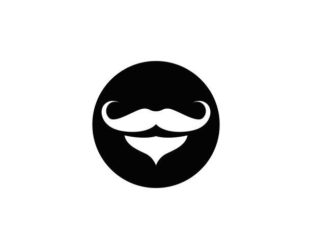 Schnurrbartlogo-Ikonenillustration - Vektor - Vektor