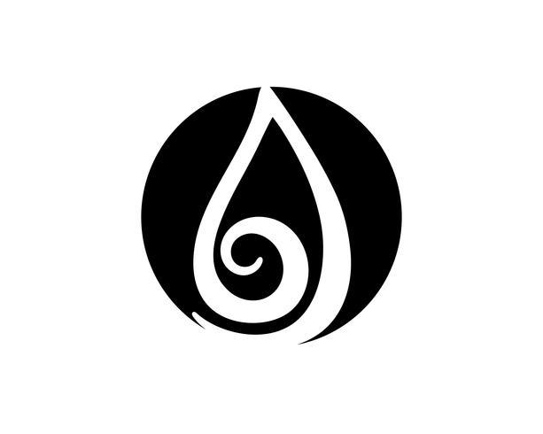 Waterdruppel zwarte n kleur logo's