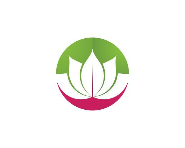 Lotus Flower Sign Wellness, Spa och Yoga. Vektor illustration