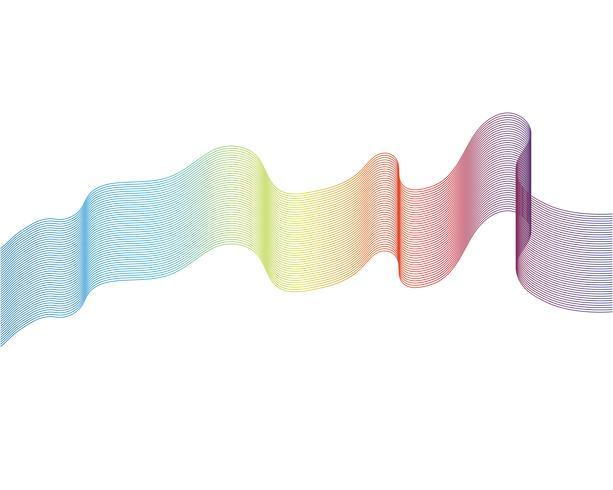Welle Zeilendarstellung Vektoren
