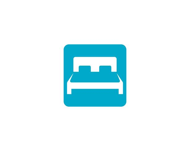 Bed logo and symbol hotel business logo vector