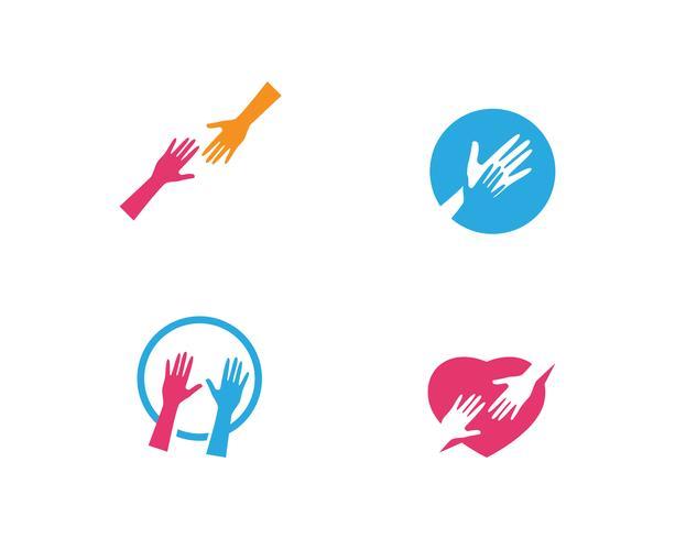 Icône de vecteur pour le soin des mains Logo Template