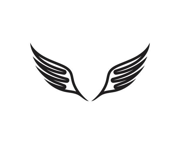 Asa preto logotipo modelo vector design ilustração vector