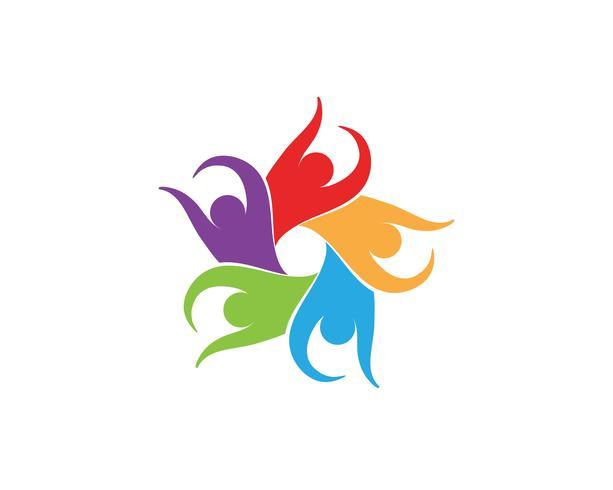 Adopción de grupo comunitario vectores de logo