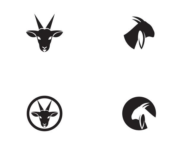 Vettore del modello Logo testa di capra