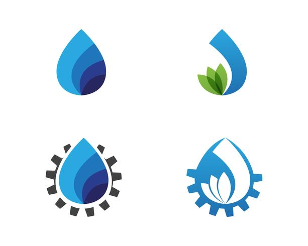 Waterdruppel logo sjabloon illustratie