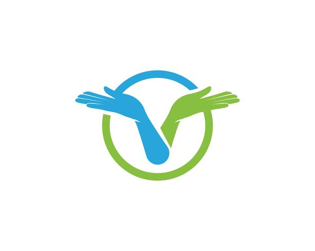 Hand care logo vector
