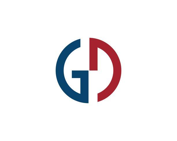 GD carta logotipo y símbolo vector busines