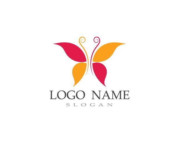 Papillon logo et symbole vecteur