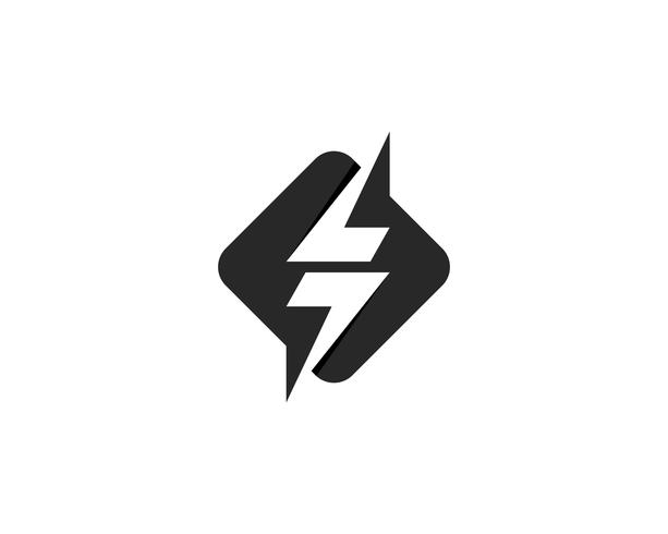 Flash thunderbolt logo mall vektor