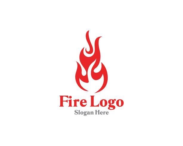 Feu logo symbole gaz et huile de vecteur