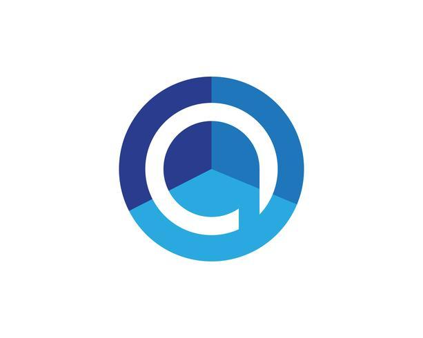 P Logo círculo ilustración icono Vector plantilla