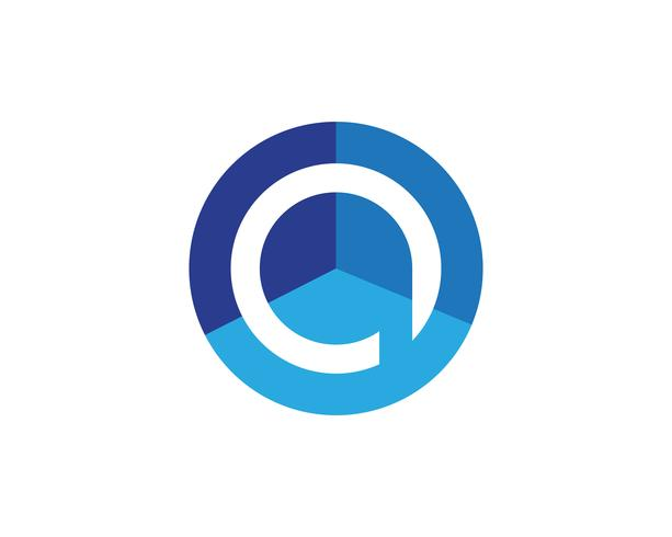 P Logo circle illustration Icon Vector Template