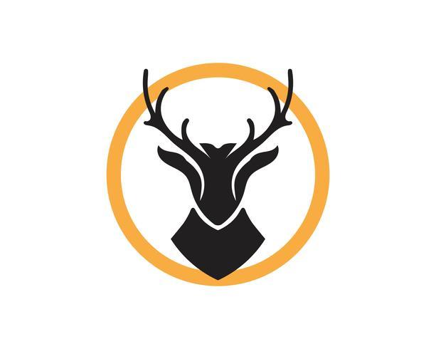 Hjort vektor ikon illustration design