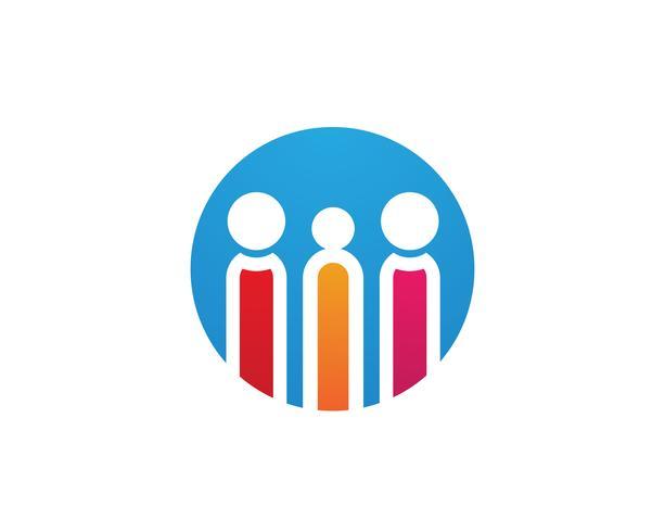 Annahme- und Gemeindepflege Logo-Schablonenvektorikonen